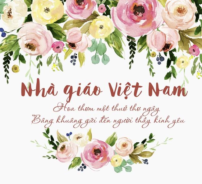 Hoa thơm một thuở thơ ngây, bâng khuâng gửi đến người thầy kính yêu