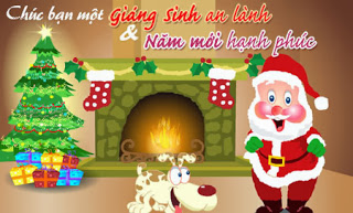 thiep dep le giang sinh